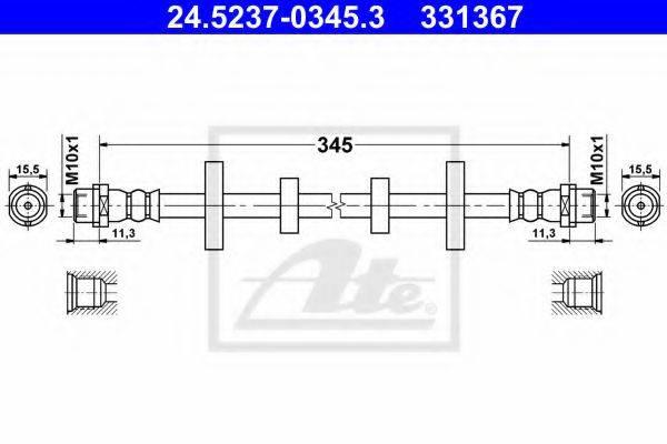 ATE 24523703453 Тормозной шланг