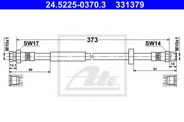 ATE 24522503703 Тормозной шланг