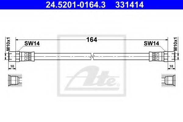 ATE 24520101643 Тормозной шланг