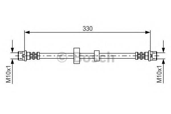 BOSCH 1987476411 Тормозной шланг
