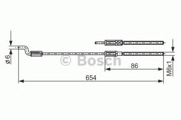 BOSCH 1987477833 Трос, стояночная тормозная система