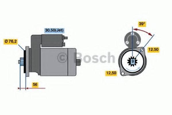 BOSCH 0001125039 Стартер