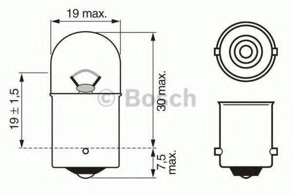 BOSCH 1987302284 Лампа накаливания, фонарь освещения номерного знака; Лампа накаливания, фара заднего хода; Лампа накаливания, задний гарабитный огонь