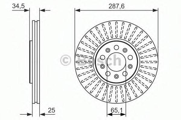 BOSCH 0986479914 Тормозной диск