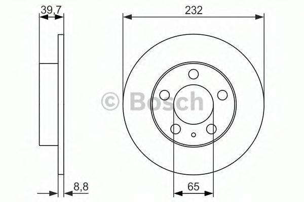 BOSCH 0986479915 Тормозной диск