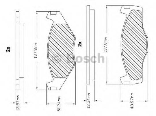 BOSCH F03B150000 Тормозные колодки
