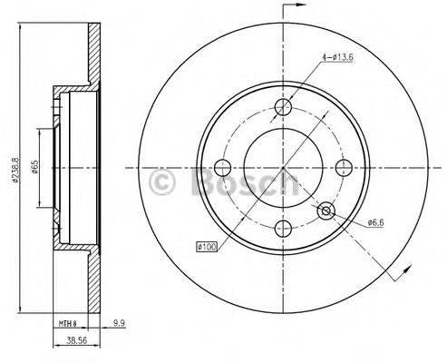 BOSCH 0986BB4363 Тормозной диск