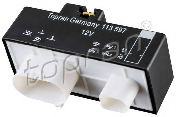 TOPRAN 113597 Реле, продольный наклон шкворня вентилятора
