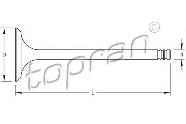 TOPRAN 107286 Выпускной клапан