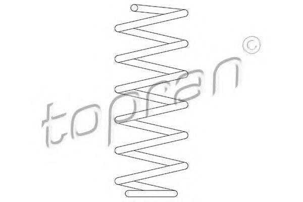 TOPRAN 109529 Пружина ходовой части