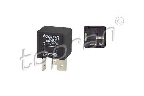 TOPRAN 102930 Реле, предпусковой подогрев впускной трубы