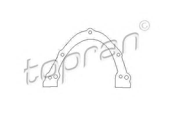 TOPRAN 100193 Прокладка, крышка картера (блок-картер двигателя)