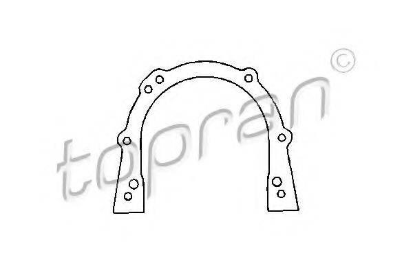 TOPRAN 100194 Прокладка, крышка картера (блок-картер двигателя)