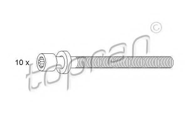 TOPRAN 109545 Комплект болтов головки цилидра