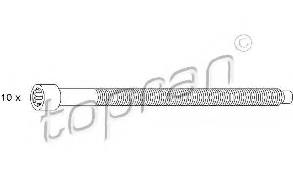TOPRAN 109676 Комплект болтов головки цилидра