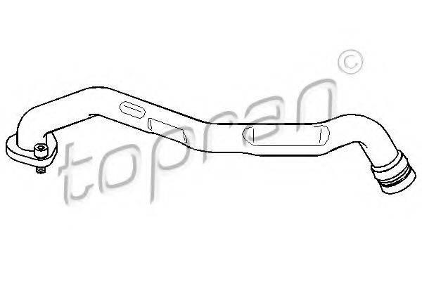 TOPRAN 108737 Шланг, воздухоотвод крышки головки цилиндра
