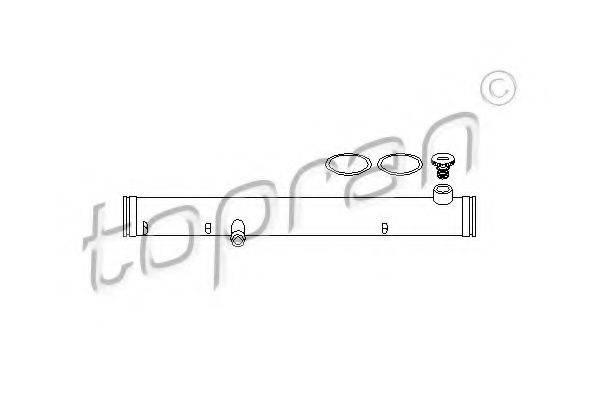 TOPRAN 108843 Трубка охлаждающей жидкости