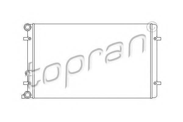 TOPRAN 110177 Радиатор охлаждения двигателя