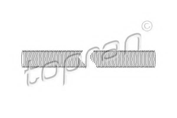 TOPRAN 100317 Патрубок радиатора