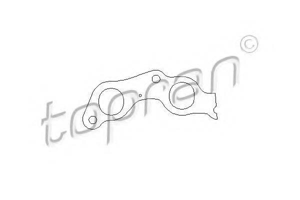 TOPRAN 100579 Прокладка выпускного коллектора