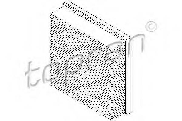 TOPRAN 100117 Воздушный фильтр