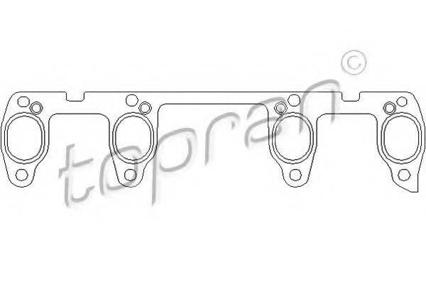 TOPRAN 100738 Прокладка выпускного коллектора
