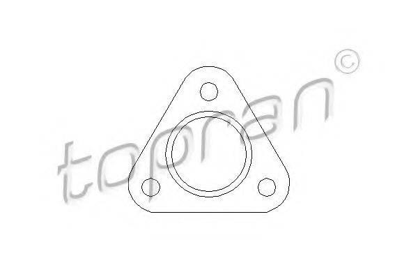 TOPRAN 107207 Прокладка трубы выхлопного газа