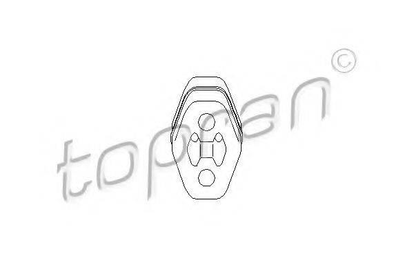 TOPRAN 103026 Кронштейн глушителя