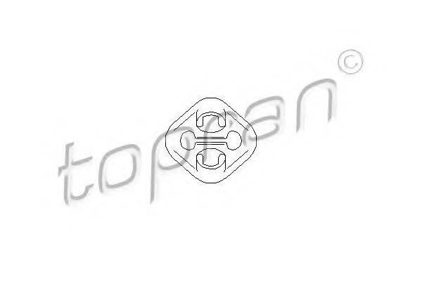 TOPRAN 107226 Кронштейн глушителя