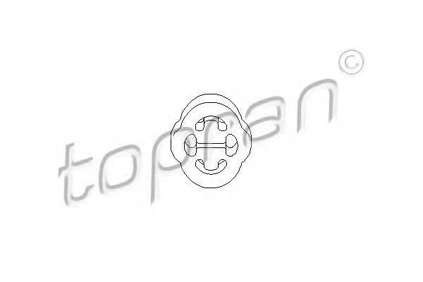 TOPRAN 104183 Кронштейн глушителя