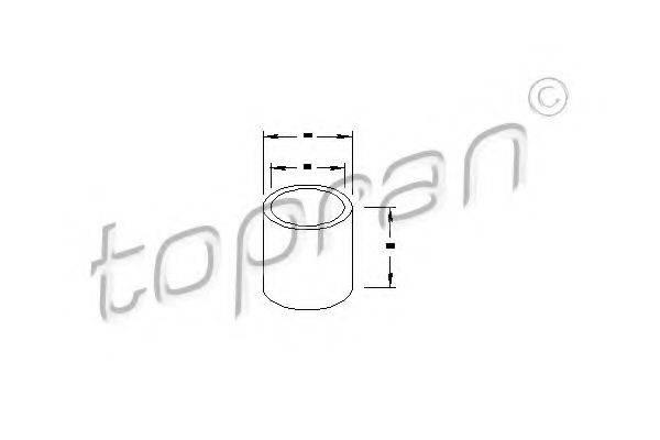 TOPRAN 100053 Втулка, вал стартера