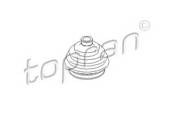 TOPRAN 103392 Пыльник ШРУСа