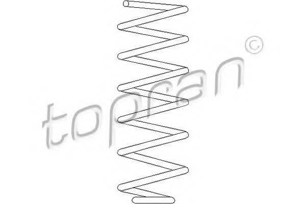 TOPRAN 102603 Пружина ходовой части