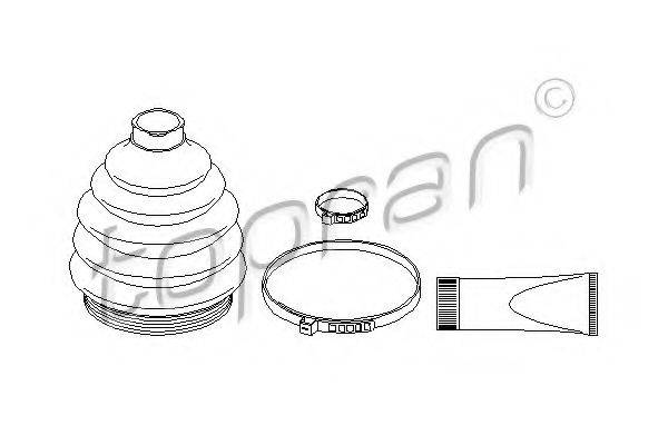TOPRAN 109944 Комплект пыльника ШРУСа