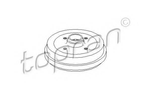 TOPRAN 102824 Тормозной барабан