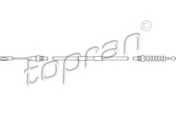 TOPRAN 110727 Трос, стояночная тормозная система