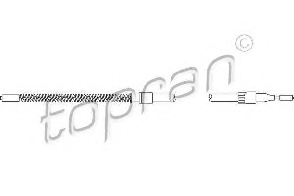 TOPRAN 104251 Трос, стояночная тормозная система