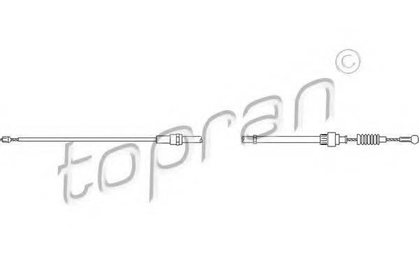 TOPRAN 109815 Трос, стояночная тормозная система