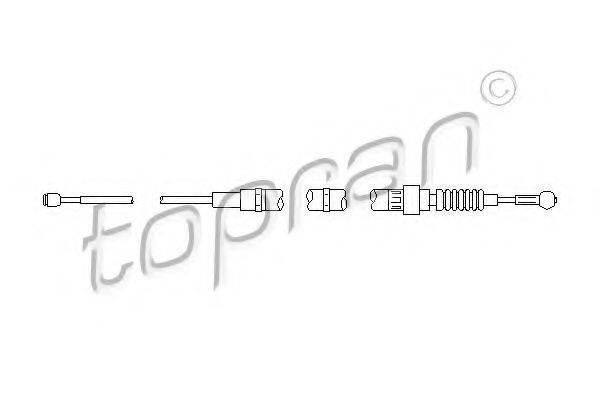 TOPRAN 112147 Трос, стояночная тормозная система