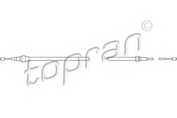 TOPRAN 108333 Трос, стояночная тормозная система