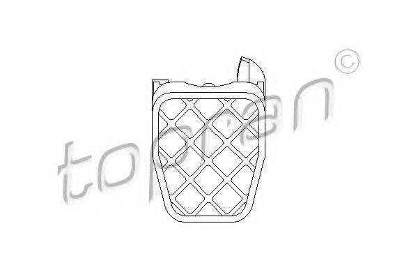 TOPRAN 109888 Педальные накладка, педаль тормоз