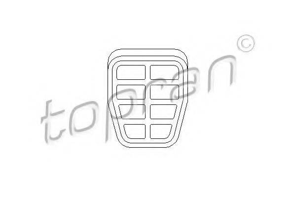 TOPRAN 103409 Педальные накладка, педаль тормоз