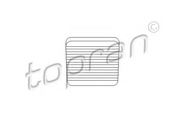 TOPRAN 104190 Педальные накладка, педаль тормоз
