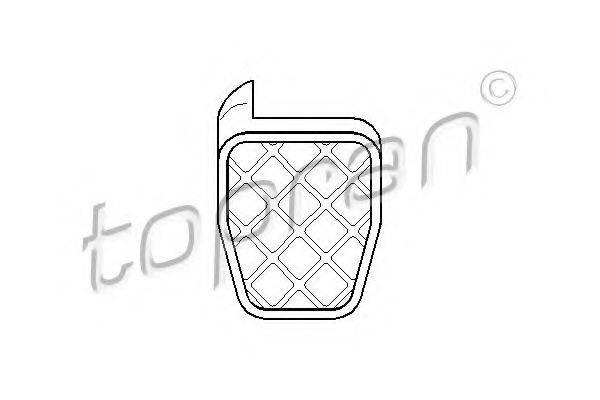 TOPRAN 109999 Накладка на педаль сцепления