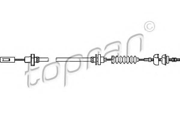 TOPRAN 104254 Трос сцепления