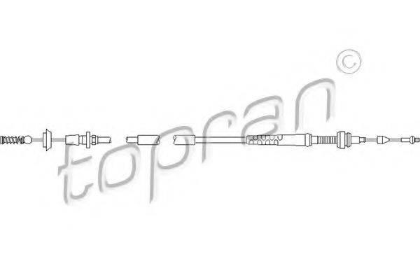 TOPRAN 109853 Тросик газа