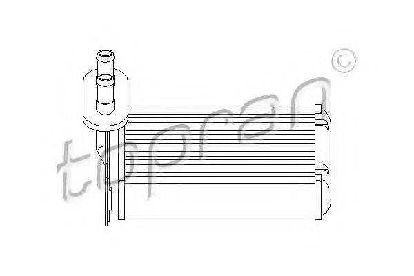 TOPRAN 103147 Радиатор печки
