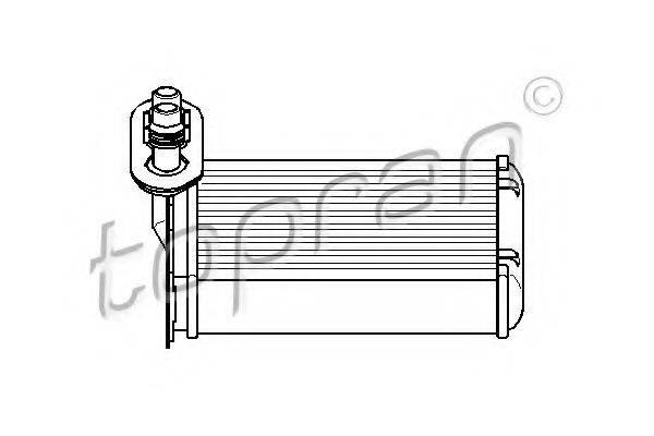 TOPRAN 109304 Радиатор печки