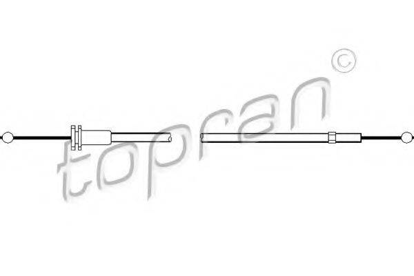 TOPRAN 108361 Тросик замка капота