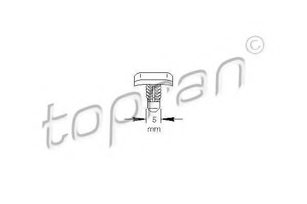 TOPRAN 103307 Зажим, молдинг / защитная накладка